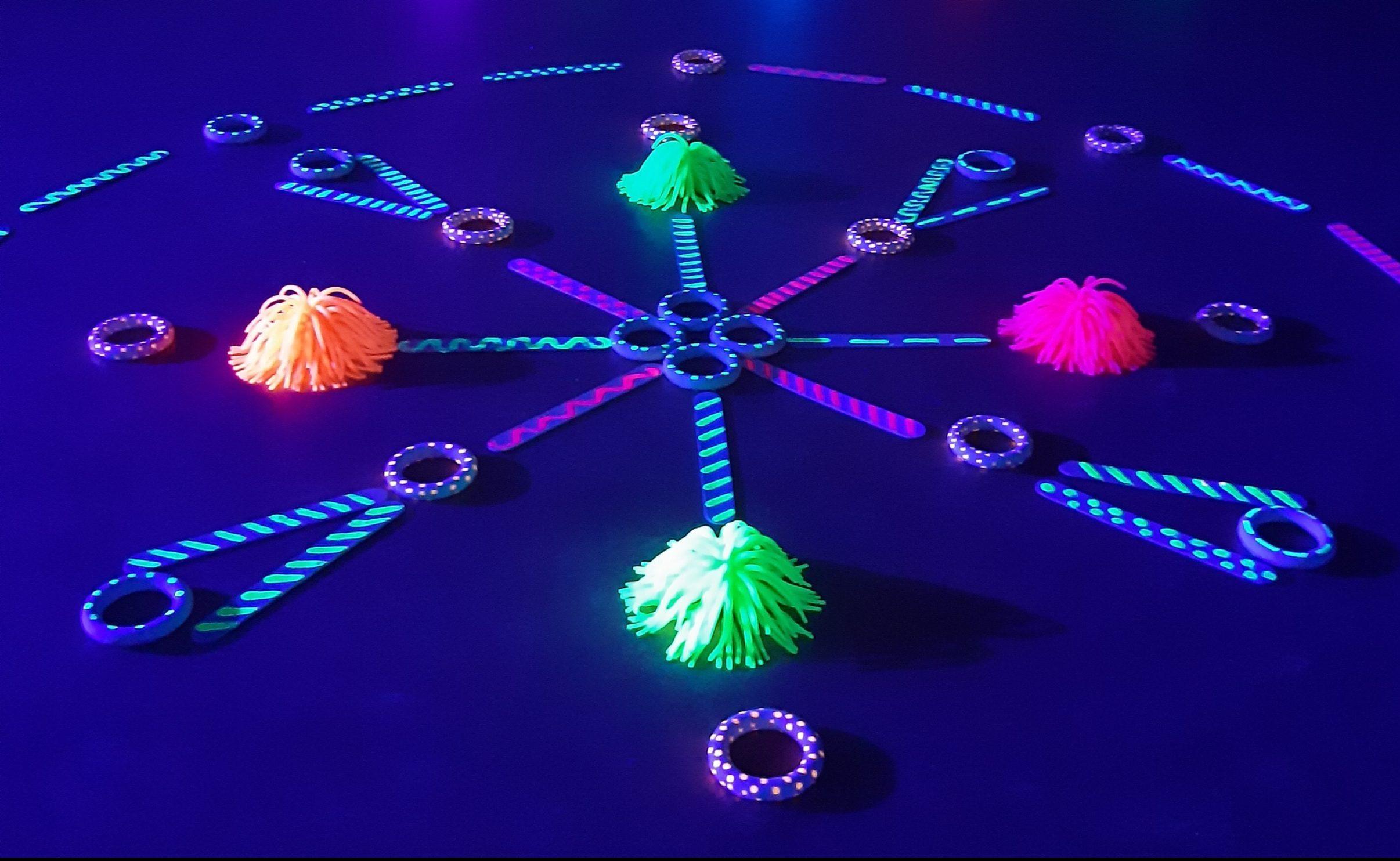 7 Propuestas de juego con luz. Jugar con la fluorescencia y la fosforescencia